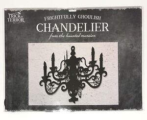 Halloween Chandelier Haunted House Horror Gothic Party Decoration Black Paper