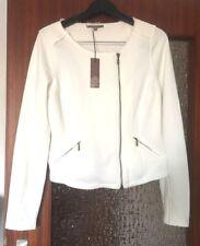 The BARN schicke Jacke Sweatshirt Cardigan L XL NEU Ecru Blazer Jacke weiß