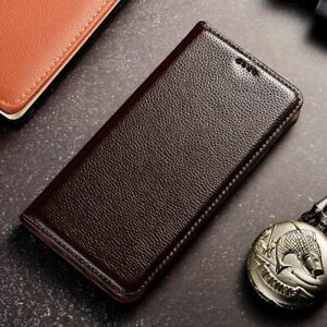 Flip Cover Litchi Pattern Genuine Leather Case For OnePlus One Plus 3 3T 5 5T 6