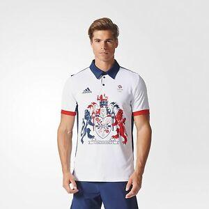 Official Adidas Olympics RIO 2016 Team GB Tennis Men's Polo Shirt, Size: Large