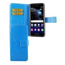 Protección, funda protectora flores para movil huawei p10 azul Wallet cover case estuches bumper nuevo