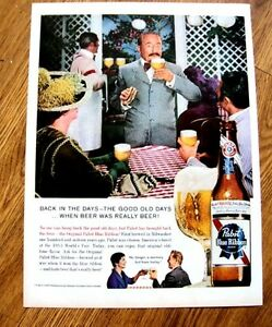 1960 Pabst Blue Ribbon Beer Ad Back in Good Old Days Original  Magazine Ad