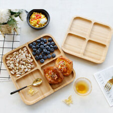 4-Compartment Bamboo Appetizer Serving Tray