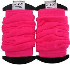 Neon Sweatband/ Headband 2 Wristbands & Legwarmers Set 1980s Fancy Dress (neon