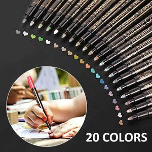 20 Colour Acrylic Paint Marker Pens Extra Fine Tip Permanent Posca Metal Pen AU