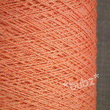 SOFT PURE COTTON CROCHET & KNIT YARN 500g CONE 10 BALLS 3 PLY CORAL PINK PASTEL