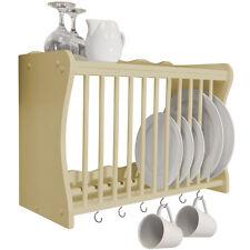 Wall Mounted Kitchen Plate / Storage Rack Buttermilk WD1891