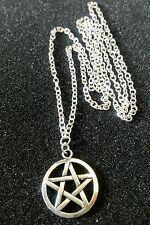 Pentacle Pentagramme étoile Breloque Argent Tibetain Pendentif,Long 76.2cm