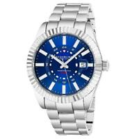 Stuhrling 892 01 892.01 Northstar Quartz GMT Date Stainless Steel Mens Watch