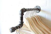 Urban Industrial Pipe Wall Rack - Clothing Rack, Organize Closet, Retail Display