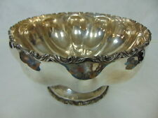 Vintage Antique .950 Sterling Silver Plateria Vigueras Mexico Punch Bowl 2464g