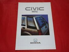 HONDA Civic Shuttle FWD RT 4WD Prospekt Brochure von 1987