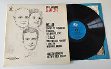 """LP 12"""" STEREO MOZART BACH CONCERTO TRE PIANOFORTI ROBERT GABY JEAN CASADESUS CBS"""