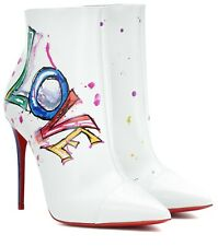 35d8bfdf4583 NEW Christian Louboutin Boot In Love Printed Red Sole Bootie Heel Ankle  Boot 38