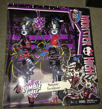 monster high doll new in box! zombie shake meowlody and purrsephone