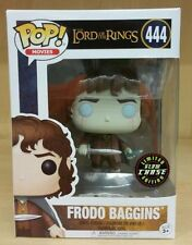 FRODO BAGGINS CHASE GLOW Funko Pop! LORD OF THE RINGS #444 IN STOCK w/ Protector