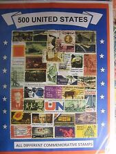 US OLD TIMER STAMP LOT ALL DIFFERENT USED WELL MIXED 500 DIFFERENT FREE SHIPPING