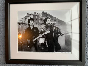 5 U2 limited prints. Signed By Photograph Colm Henry