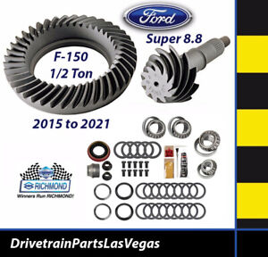 "Richmond Ford Super 8.8"" 3.55 Ring Pinion Gear Set Master Kit 15-21 F-150 Truck"