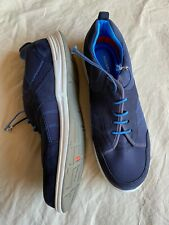 Rockport sz 9.5 (41) navy blue comfort insole runner elastic laces - Brand New