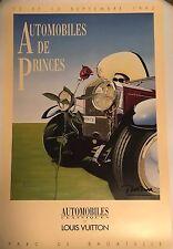 """Vintage Razzia Louis Vuitton Automobile Poster """"Parc De Bagatelle 1992"""", Signed"""