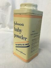 "1950's - 60's Johnson's Baby Powder ""FOR HOSPITAL USE ONLY"" Made in U.S.A."