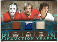 2017-18 ITG Used Induction Years 1988 T. ESPOSITO / Guy LAFLEUR / Brad PARK #1/3