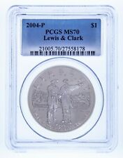 2004-P $1 Silver Commemorative Lewis & Clark Graded by PCGS as MS70