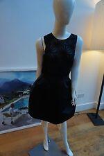 New Dice Kayek Black Sleeveless Evening Dress Size 42 Fit A UK12