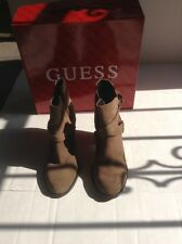 light Brown suede Guess Wgrulaa ankle books size 6