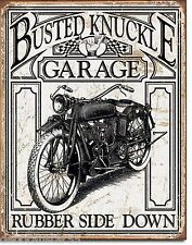 BUSTED KNUCKLE GARAGE Motorcycle Vintage Tin Signs Biker Retro Metal Signs 1923