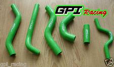 KAWASAKI KXF250 KXF 250 KX 250 F 2007 2008 07 08 silicone radiator hose green
