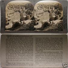 Keystone Stereoview of the Palace of Nebuchadnezzar, IRAQ From 600/1200 Card Set