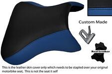 ROYAL BLUE & BLACK CUSTOM FITS KAWASAKI NINJA ZX9R 98-02 ZX9 R FRONT SEAT COVER