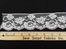 "Floral Lace - 2 Flower Types: White, 2.5"" W, 5 yd. min., CTO"