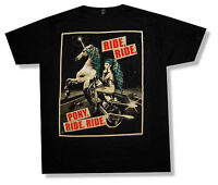 "LADY GAGA ""PONY RIDE"" BLACK T-SHIRT 2013 CANCELED TOUR NEW OFFICIAL RARE"