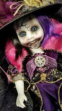 Rachita , Creepy OOAK, Horror Porcelain Clown Doll