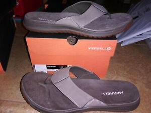 NEW $54 Mens Merrell Vernon Post Flip Flop Sandals, size 11         shoes