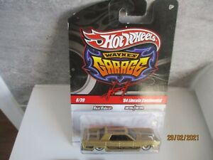 HOTWHEELS WAYNES GARAGE  64 LINCOLN CONTINENTAL ALLOYS RUBBER TYRES
