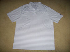 Pre-Owned Under Armour Heat Gear Men'S White Striped Golf/Polo Shirt Size Xl