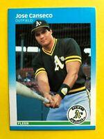 1987 JOSE CANSECO FLEER CARD #389 Vintage Baseball Oakland Athletics mlb MINT