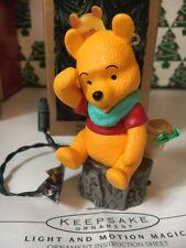 Christmas Disney Hallmark Winnie The Pooh With Voice Pooh Ornament IB