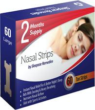 Sleepeze Remedies 60 Pack Large Nasal Nose Strips Anti Snoring Sleep Aid