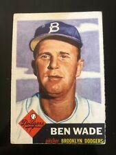 1953 Topps Ben Wade #4 Brooklyn Dodgers
