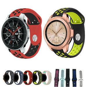 Dual Colors Silicone Band for Samsung Galaxy Watch Active 2 40mm 44mm Strap Belt