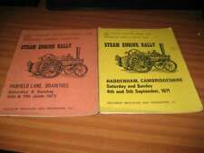 2 EAST ANGLIAN TRACTION ENGINE CLUB RALLY PROGRAMMES 1971 1972