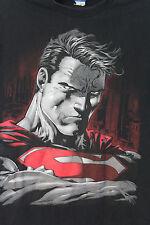 Superman DC Comics Dark Brooding Black T-Shirt Adult L