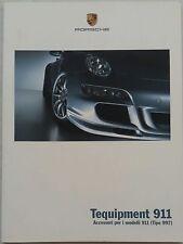 DEPLIANT PORSCHE 911 997 2005  BROSHURE NUOVO MANUALE ITALIANO LIBRO PROSPEKT