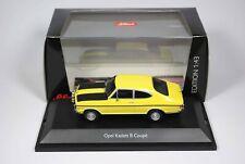 1:43 Schuco Opel Kadett B Coupe Rallye 1900 in gelb mit OVP sehr guter Zustand