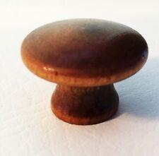 "Maple Antique Wood Drawer Knob Mushroom Antique Hardware Drawer Pull 1 1/4"" dia."
